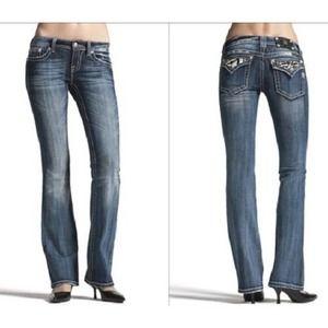 Miss Me Embellished Zebra Pocket Bootcut Jeans